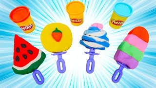 Learn Colors with Play Doh Lollipops & Ice Cream