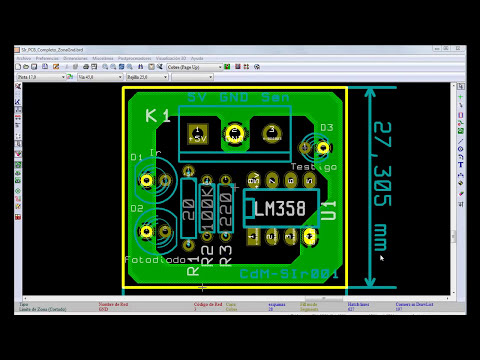 KiCad. Tutorial 4. Zona del circuito impreso. CdM