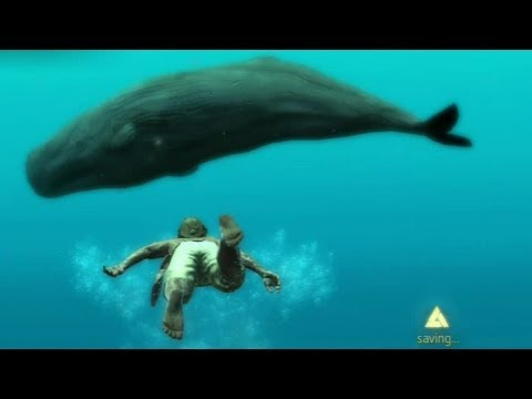 Assassin's Creed 4 Black Flag AMAZING EASTER EGG - Close Encounter With Massive Secret White Whale!