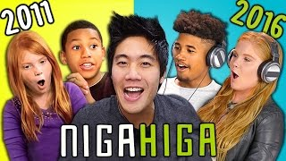 TEENS REACT TO THEMSELVES ON KIDS REACT (NigaHiga)