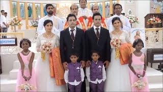 Identical Twins Marry Another Set of Twins in Ceremony By Twin Priests