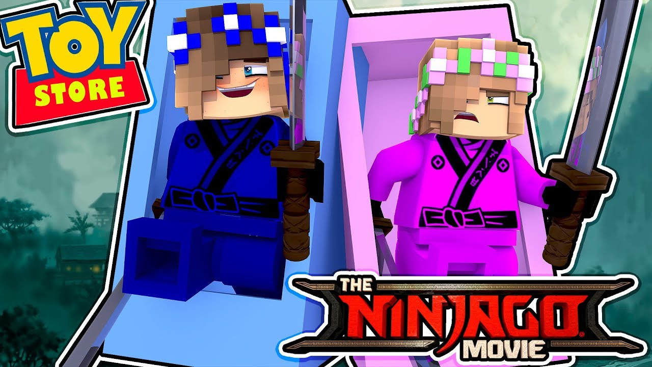 LITTLE CARLY DOLL TURNS INTO A LEGO NINJAGO!! (Minecraft Toystore).