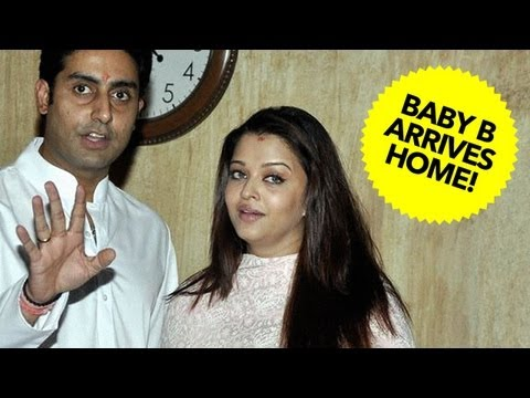 Aishwarya Rai & Abhishek Bachchan's Baby B Arrives At Home!