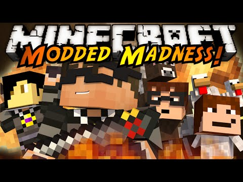 Minecraft Modded Madness : GUN MOD VS MORPH MOD!