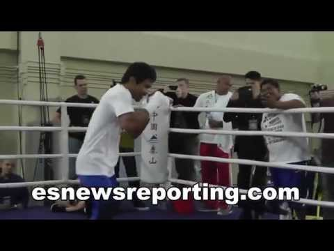 Manny Pacquiao vs Floyd Mayweather MP To Sing Himself Into Ring With A Song For His Fans - EsNews