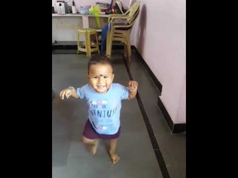 My son saathvik 1st time walking without aney saport .....
