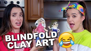 We Made CLAY ART SCULPTURES of EACH OTHER BLINDFOLDED - Merrell Twins