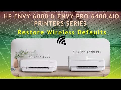 HP Envy 6000 series & HP Envy Pro 6452 | 6455 AiO Printer : Reset Wireless to defaults