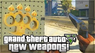 GTA 5 Ill Gotten Gains Part 2 NEW Weapons Knuckle Duster & Marksman Pistol