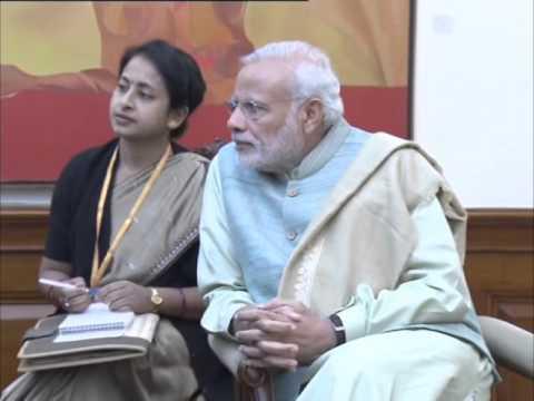 Interpol Secretary General meets Indian Prime Minister Narendra Modi in New Delhi