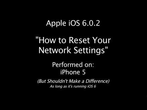 iOS 6   iPhone 5   Reset Network Settings   iOS 6.0.2