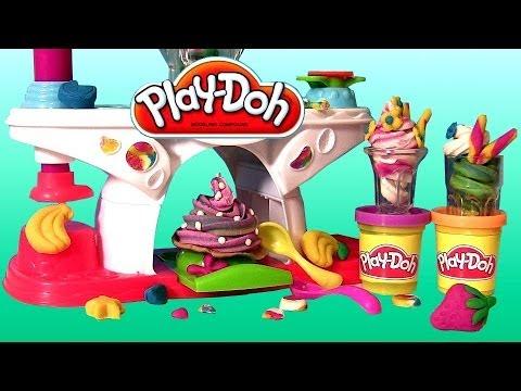 Play Doh Swirling Shake Shoppe Make Play Dough Shakes Smoothies Ice-Cream Desserts Sweet Shoppe