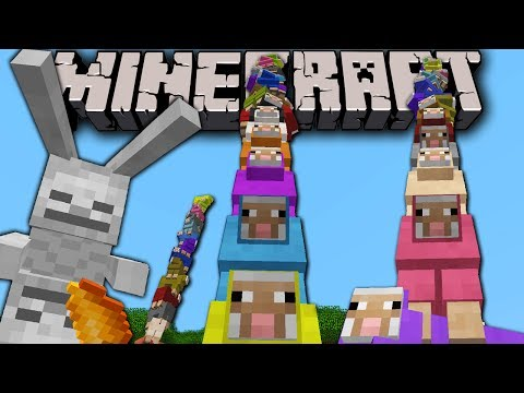 Minecraft 1.7.4 Snapshot & 1.8 News: Secret Rainbow Sheep. Locking Chests. Skeleton Bunny