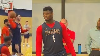 Lonzo Ball & Zion Williamson Shock Pelicans With Alley-Oop In 1st Pelicans Practice!