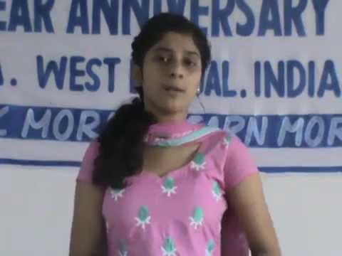 Awesome Speech By Bratati, Student Of Mainak On Nature... video