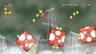 Newer Super Mario Bros Wii 100% World 3: Mushroom Peaks Part 1