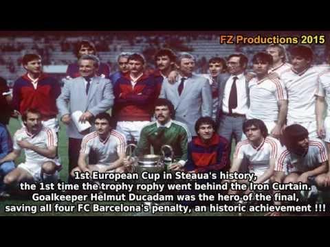 All the goals scored by Steaua Bucharest, winner of the 1985/86 European Cup. Steaua won the trophy overcoming Vejle BK, Budapest Honvéd, Kuusysi Lahti, Anderlecht and Barcelona. That team...
