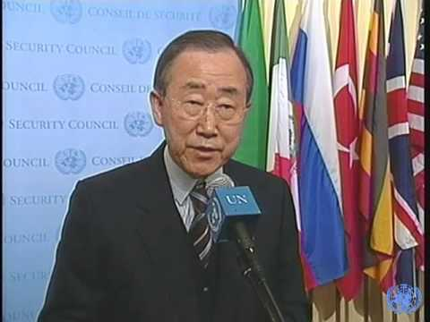 Ban Ki-moon and Gordon Brown on the upcoming G-20 meeting