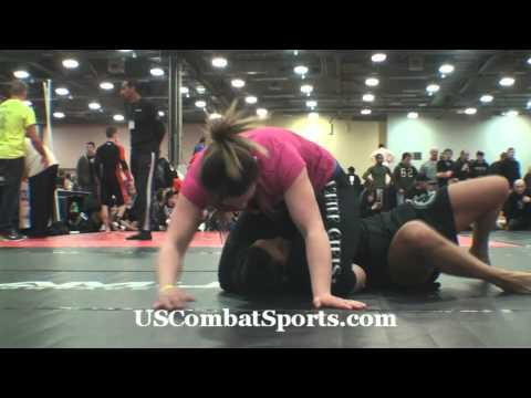 Triangle Choke from Mount - Kali Robbins - Finals Match - Arnold Grappling Championships - No Gi BJJ Image 1