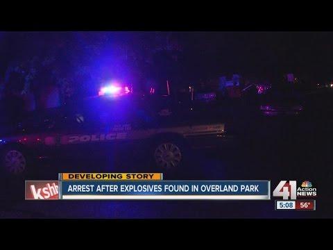 Arrest after explosive materials found in Overland Park