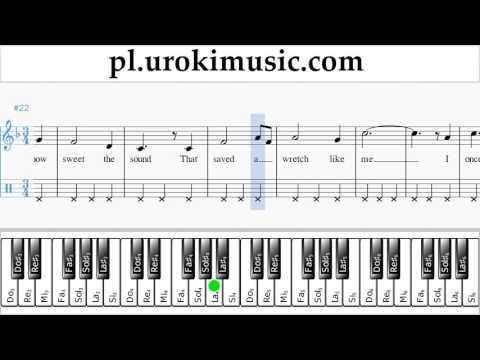 Nauka Gry Na Fortepianie (prawa Ręka) Amazing - Grace Nuty Poradnik Część 2 Um-b463