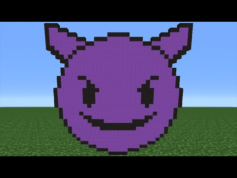 Minecraft Tutorial: How To Make A Purple Devil Emoji