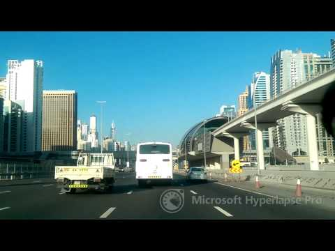 MS Hyperlapse Test. Driving in Dubai.
