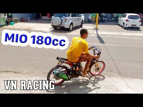 TEST YAMAHA MIO 4 VAL ENGINE 180cc JVT INDONESIA