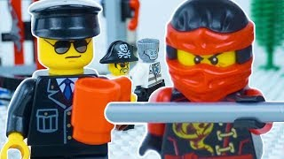 LEGO Ninjago Prison Break STOP MOTION w/ Kai, Zane And Captain Soto | Lego Ninjago | By Lego Worlds