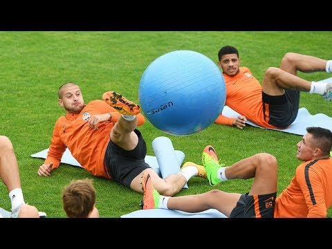 Shakhtar in Germany. One of the most fun exercises at the training camp