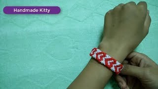 Handmade Kitty - Heart Friendship Bracelets tutorial