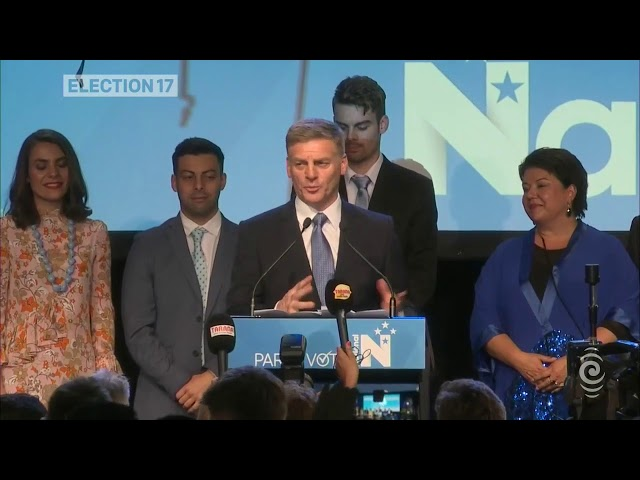 Bill English celebrates electoral result and thanks supporters