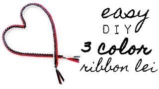 3 Color Ribbon Lei (Graduation Lei) Easy