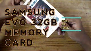 Samsung Evo plus 32 GB Micro SD Card fake or real | how to identify fake memory card of samsung