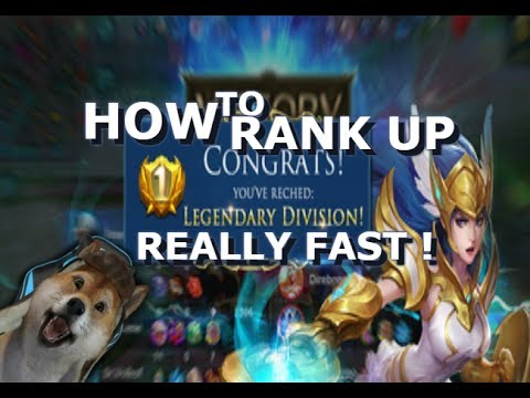 How To Rank Up Super Fast - Mobile Legends - Guide - Tips - Giveaway - Skins - Diamonds