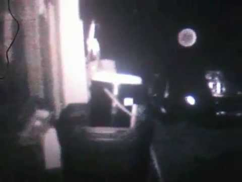 Orb caught on security camera, real footage