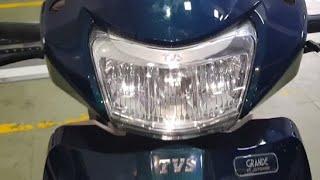 tvs jupiter grande edition led headlight in night