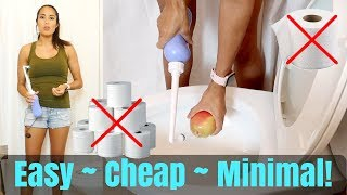 Cheapest, Cleanest, Most Minimal No-Toilet Paper System
