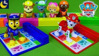 Game Time! New Paw Patrol Back Flip Pup Pup Boogie Game Toys Marshall Chase Skye Rubble Toys Video!