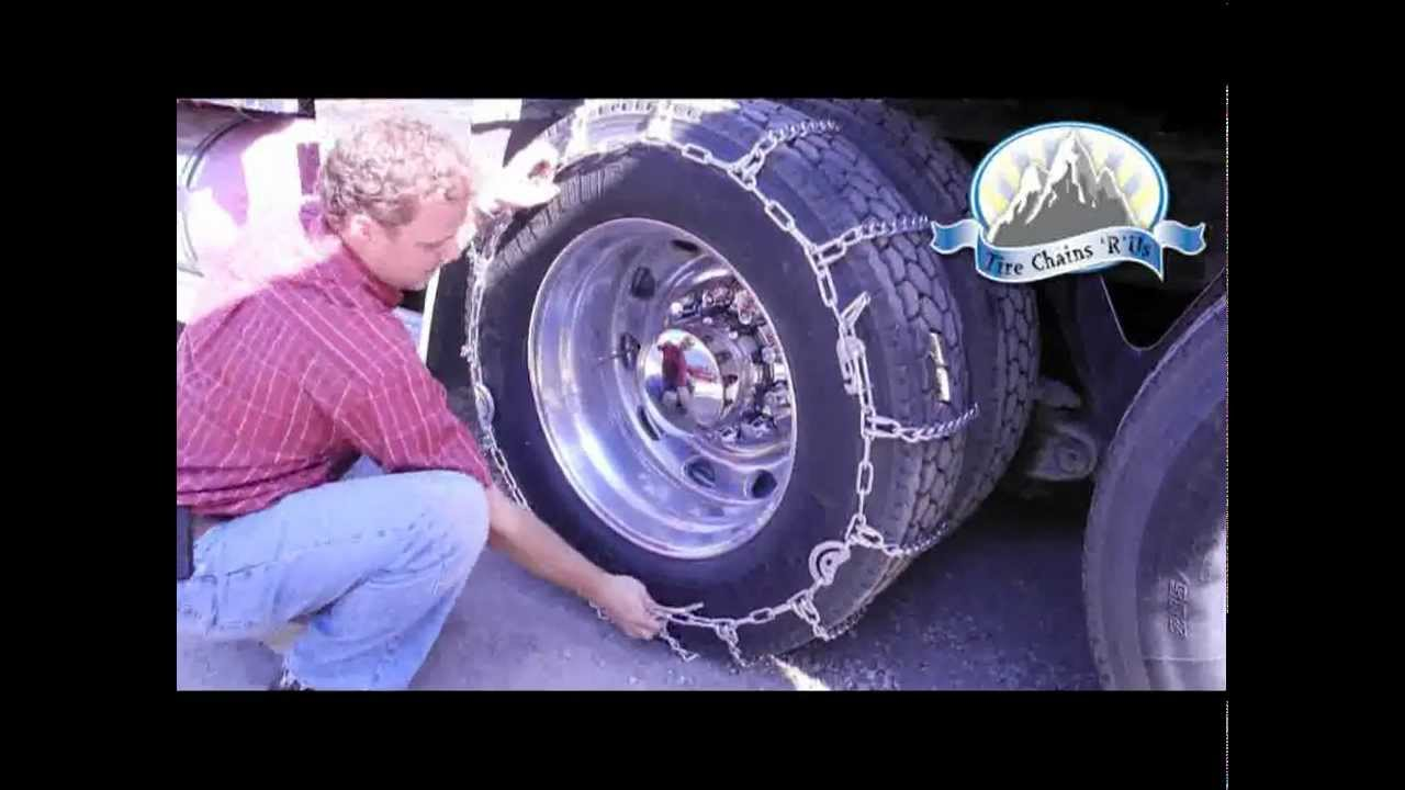 how to install general highway service semi truck tire chains