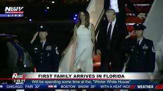FLORIDA ARRIVAL: First Family Spending Thanksgiving at Mar-a-Lago (FNN)