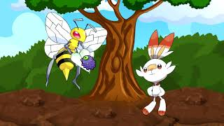 [EP3] Beedrill becomes friends with Scorbunny | Short Pokémon Animation
