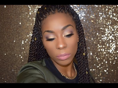 Smokey Winter Makeup   Senegalese Twist Hair Review