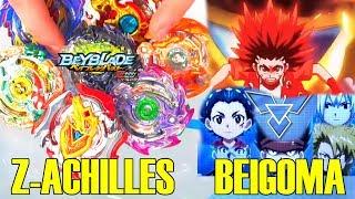 BEIGOMA TEAM VS Z ACHILLES! BURST CHO Z BATTLES! ベイブレードバースト