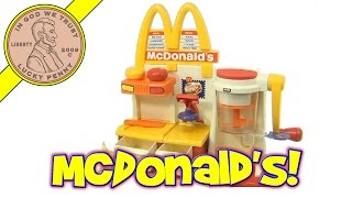 OLD VIDEO - McDonald's Hamburger Snack Maker Playset (click on updated video link!)