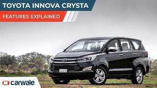 Toyota Innova Crysta | Features Explained | CarWale