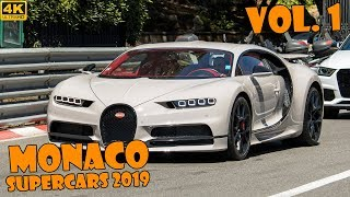 SUPERCARS IN MONACO 2019 - VOL. 1 (Chiron, Senna, 918 Spider, P1, etc ... ) [2019 4K]