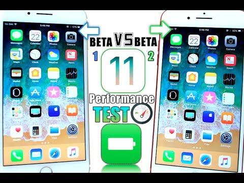 iOS 11 Beta 1 Vs iOS 11 Beta 2 Battery Test iOS 10.3.3 Beta 4 & More