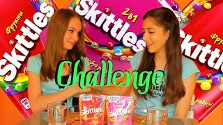 Skittles challenge with Yulia and Angelica