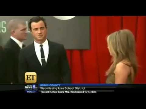 Justin Theroux admires Jennifer Aniston at SAG Awards
